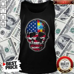 Official Skull America Puzzle Tank Top
