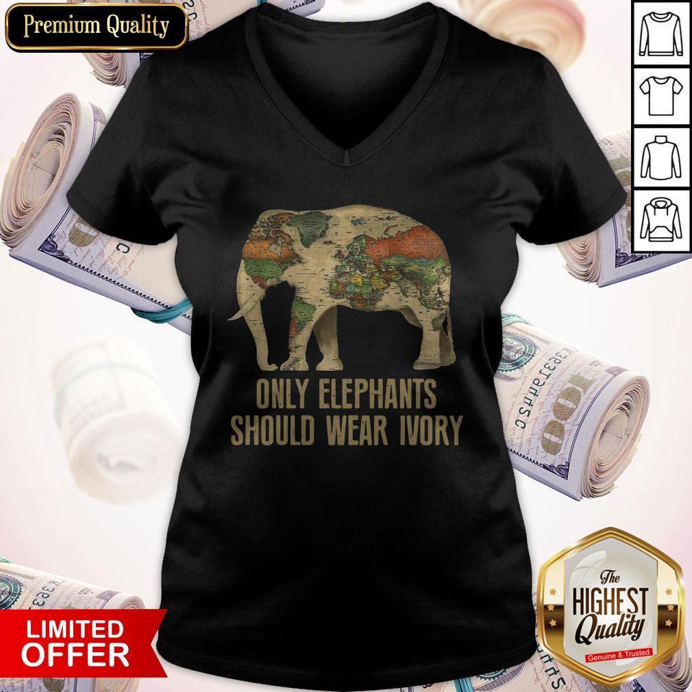 Only Elephants Should Wear Ivory V-neck
