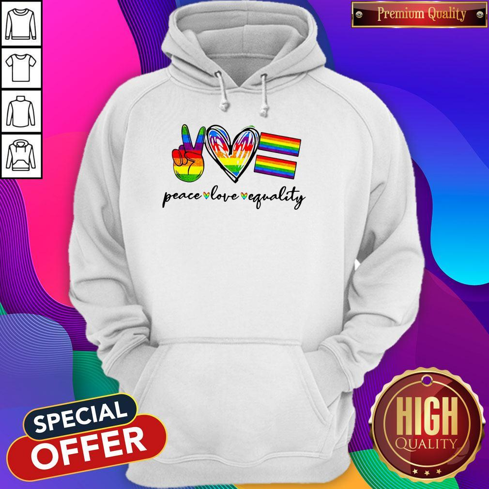 Peace Love Equality Lgbt Hoodie