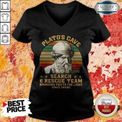 Platos Cave Search And Rescue Team Vintage V-neck