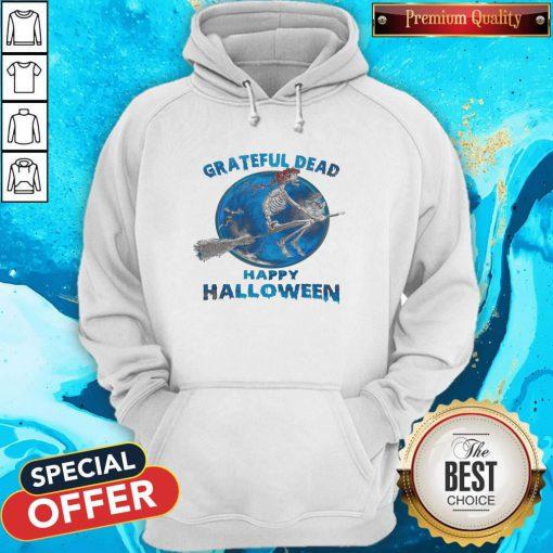 Skeleton Witch Grateful Dead Happy Halloween Hoodie