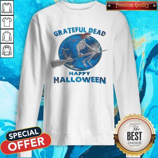 Skeleton Witch Grateful Dead Happy Halloween Sweatshirt