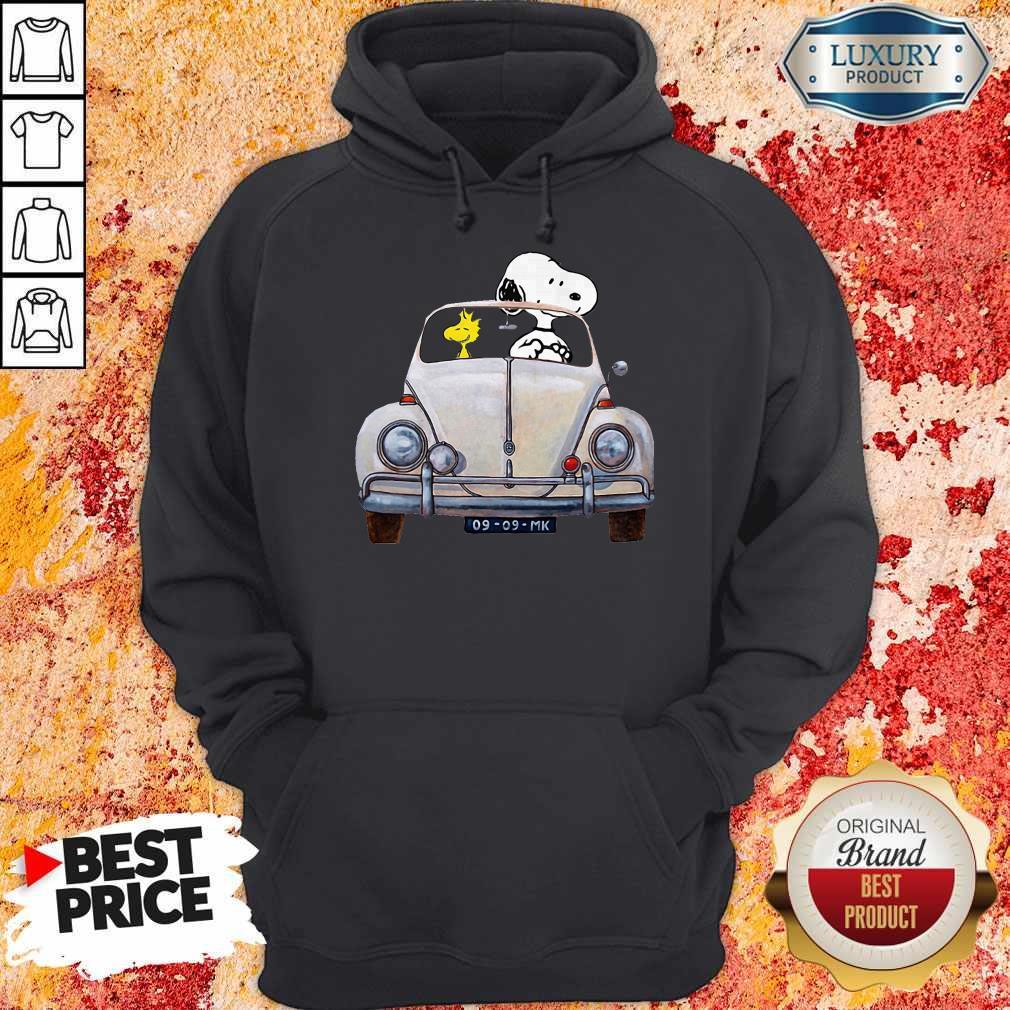 Snoopy And Woodstock Driving 09 09 Mk Hoodie