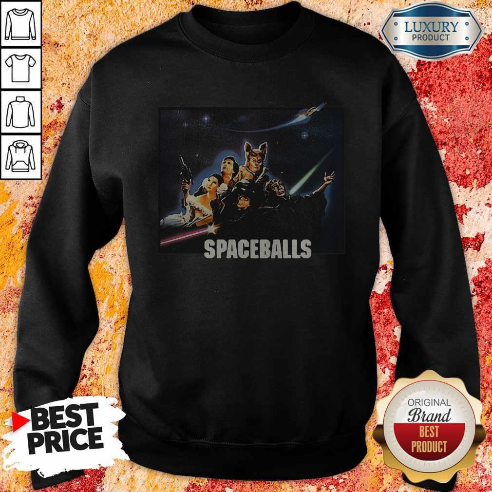 Spaceballs Movie Characters Meteor Shower Sweatshirt