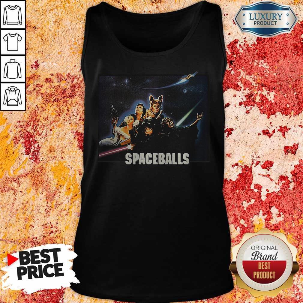 Spaceballs Movie Characters Meteor Shower Tank Top