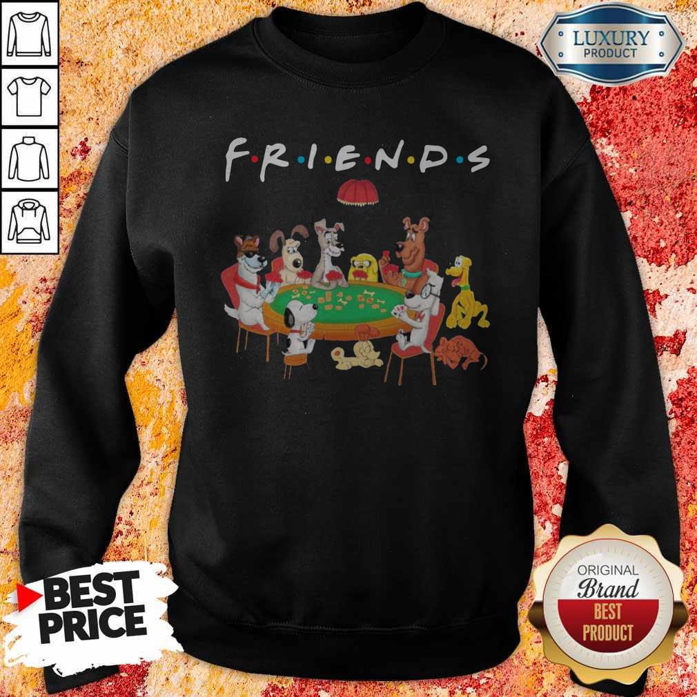 Spoony Dogs Playing Poker Friends Sweatshirt