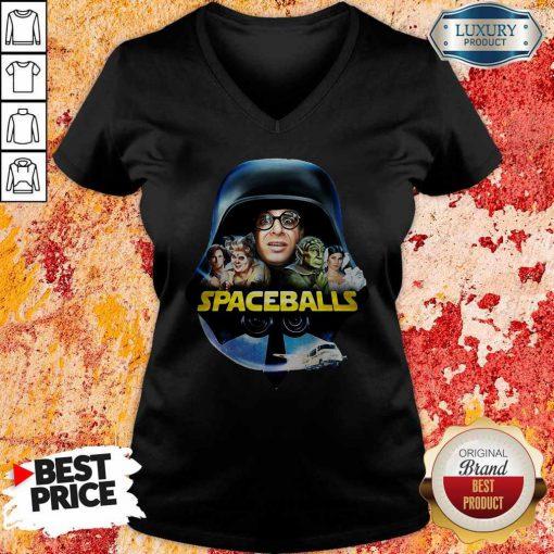 Star Wars Darth Vader Spaceballs Movie Characters Retro 80s V-Neck