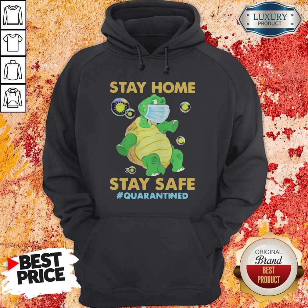 Stay Home Stay Safe Quarantined Turtle Face Mask Hoodie