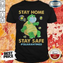 Stay Home Stay Safe Quarantined Turtle Face Mask Shirt