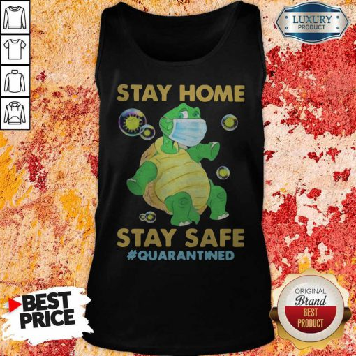 Stay Home Stay Safe Quarantined Turtle Face Mask Tank Top