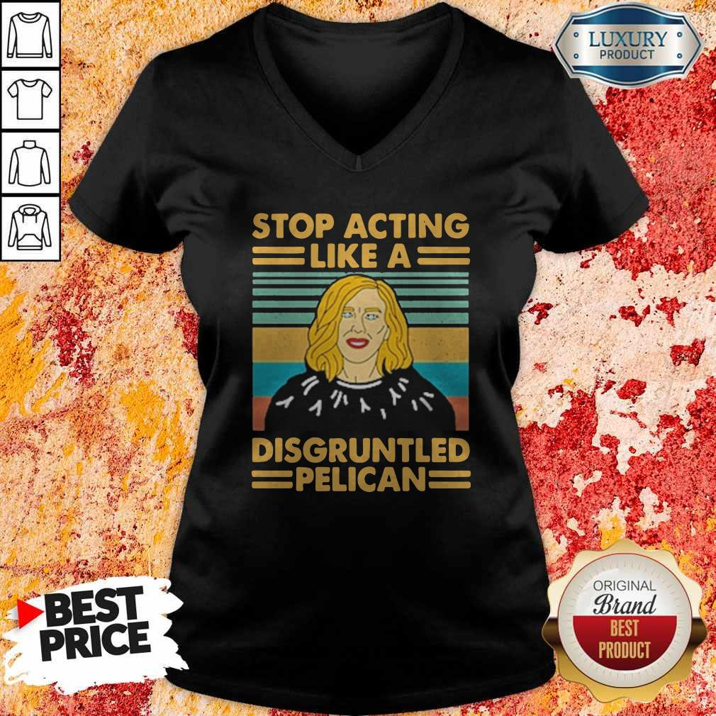 Stop Acting Like A Disgruntled Pelican Girl Vintage V-neck