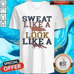 Sweat Like A Pig Look Like A Fox Gym V-neck