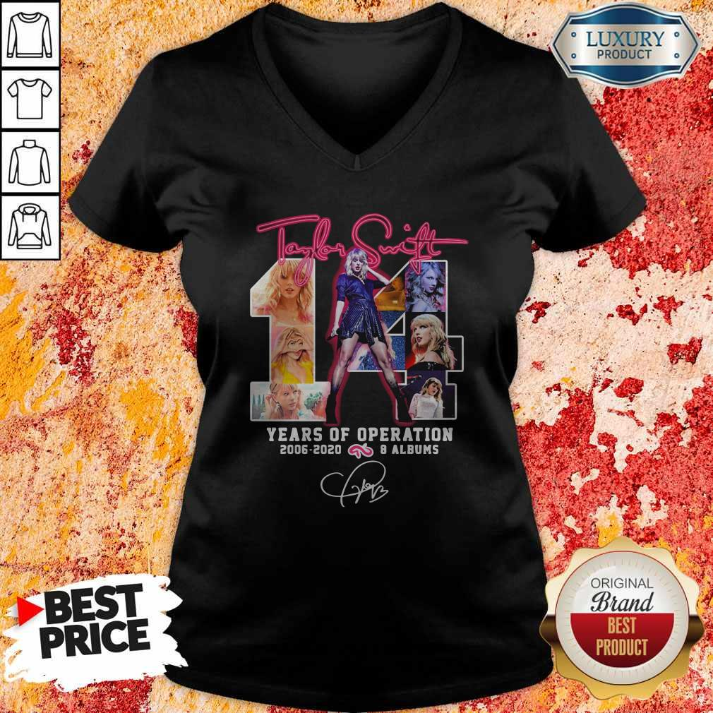 Taylor Swift 14 Years Of Operation 2006-2020 8 Albums Signature V-neck