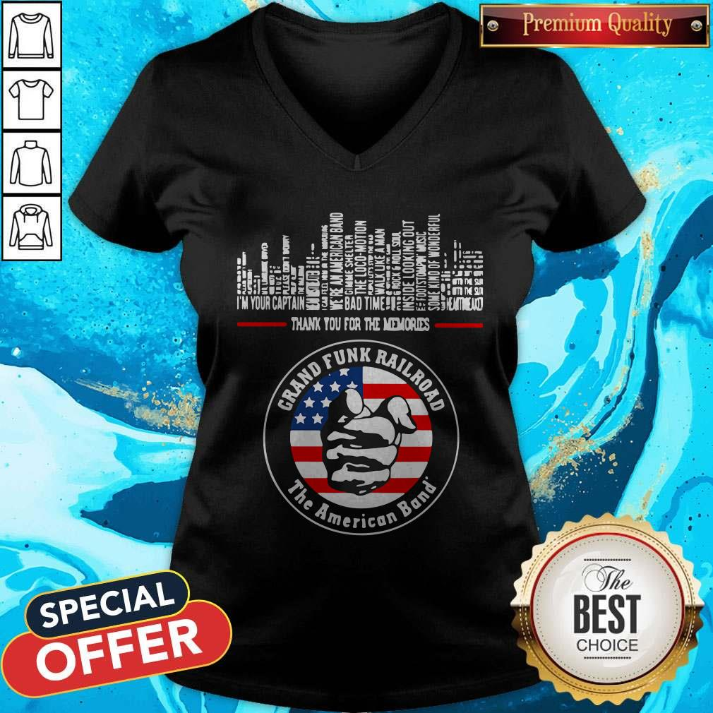 Thank You For The Memories Grand Funk Railroad The American Band V-neck