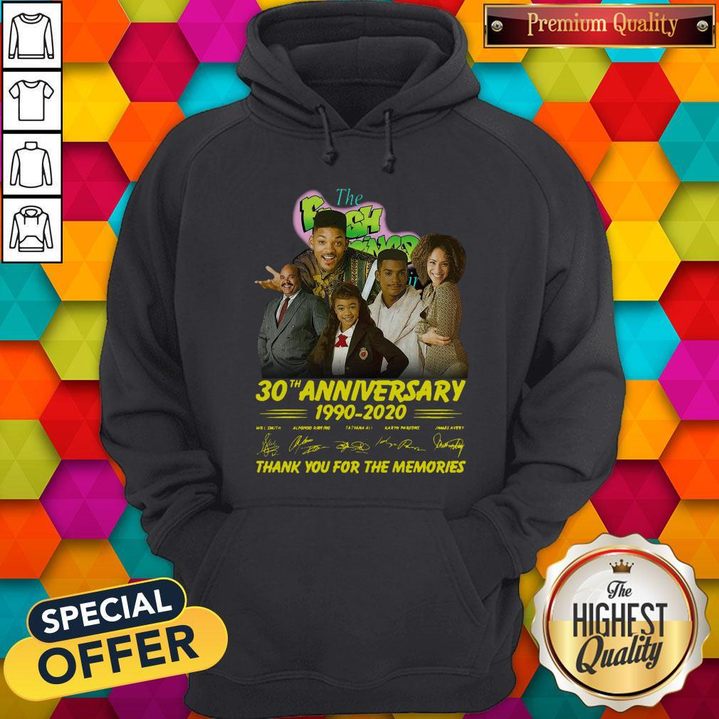 The Fresh Prince 30th Anniversary 1990 2020 Thank You For The Memories Signatures Hoodie