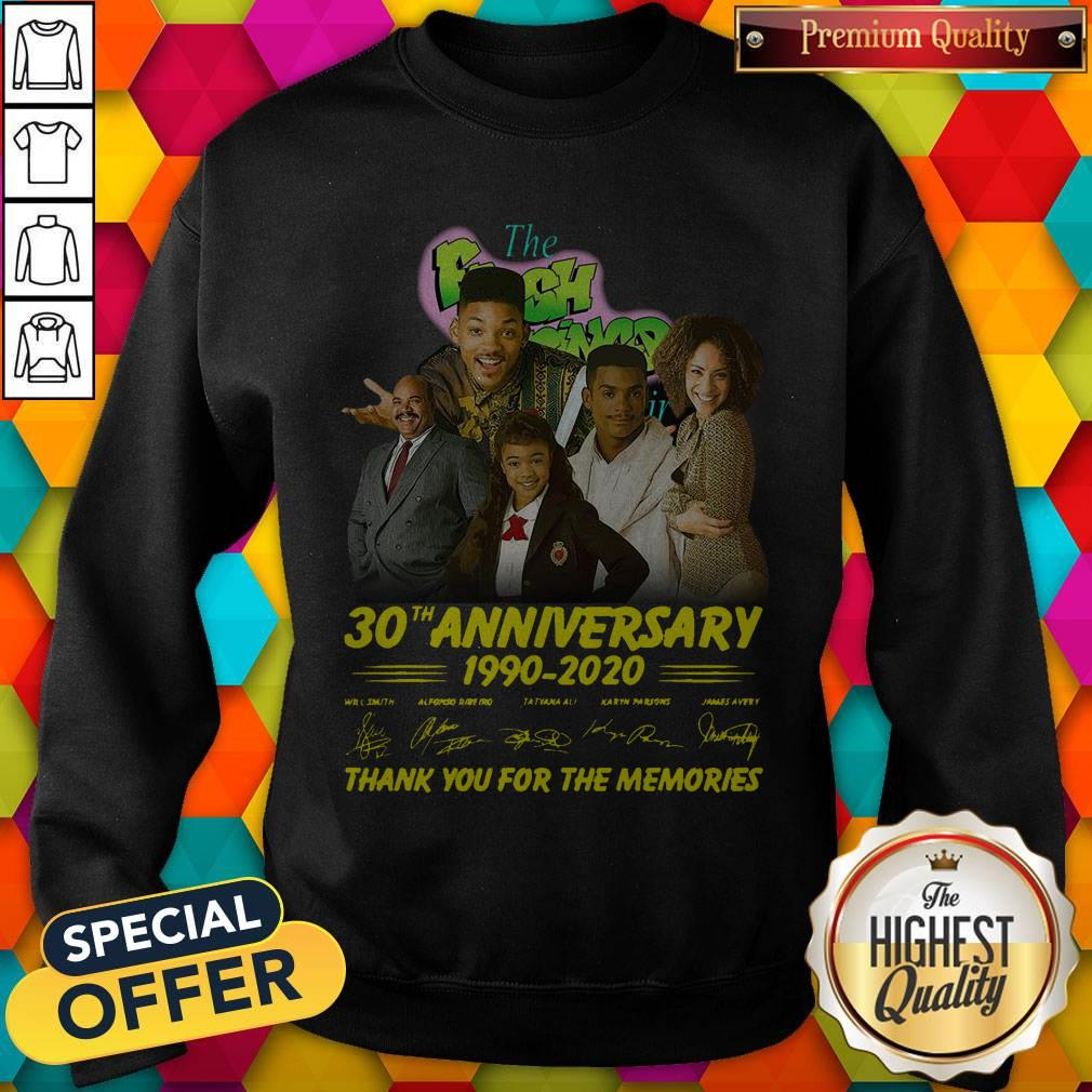The Fresh Prince 30th Anniversary 1990 2020 Thank You For The Memories Signatures Sweatshirt