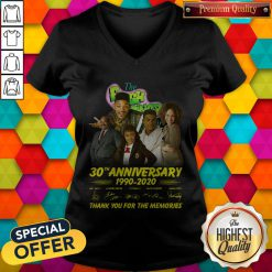 The Fresh Prince 30th Anniversary 1990 2020 Thank You For The Memories Signatures V-neck