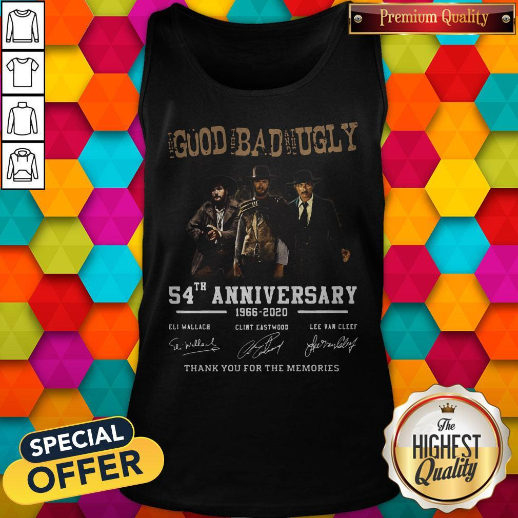 The Good The Bad And The Ugly 54th Anniversary 1966 2020 Thank You For The Memories Signatures Tank Top