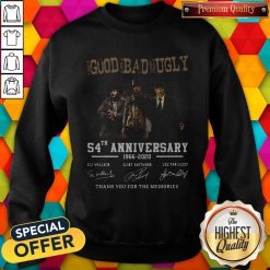 The Good The Bad And The Ugly 54th Anniversary 1966 2020 Thank You For The Memories Signatures Sweatshirt
