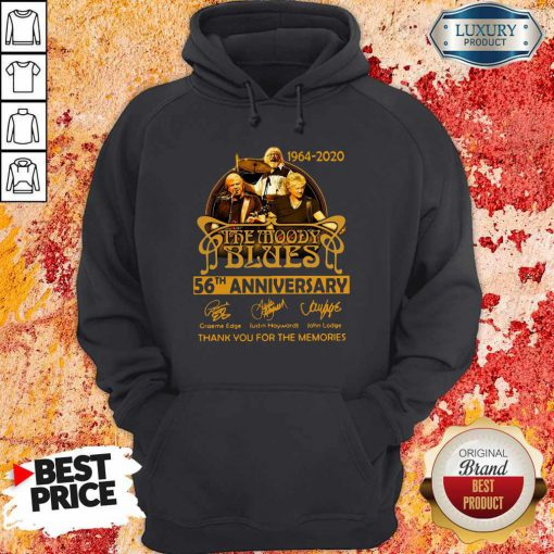 The Moody Blues 56th Anniversary Thank You For The Memories Signatures Hoodie