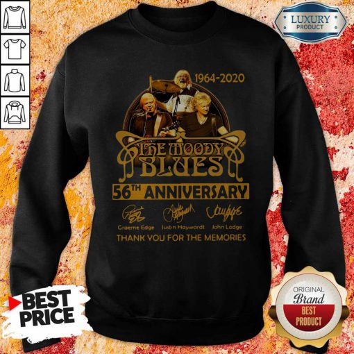 The Moody Blues 56th Anniversary Thank You For The Memories Signatures Sweatshirt