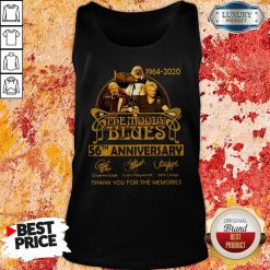 The Moody Blues 56th Anniversary Thank You For The Memories Signatures Tank Top