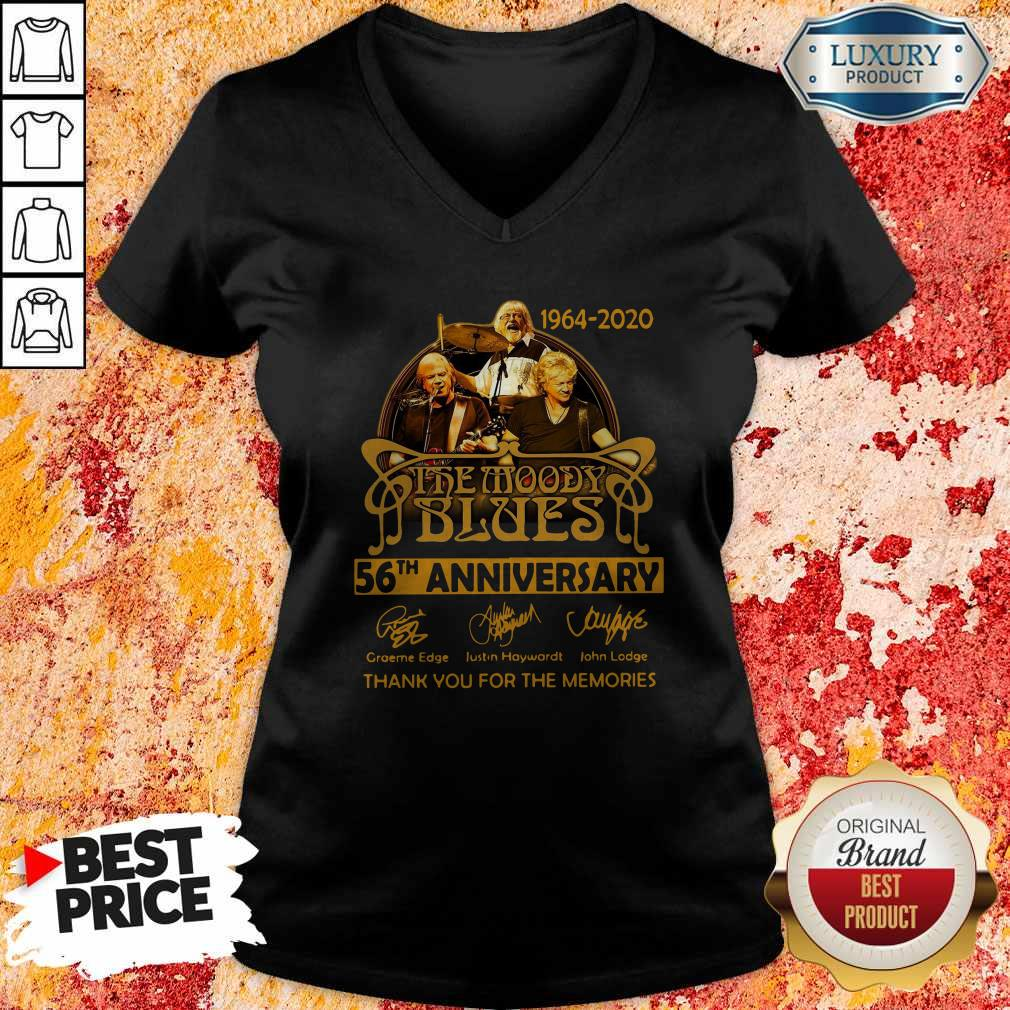 The Moody Blues 56th Anniversary Thank You For The Memories Signatures V-neck