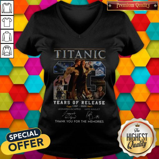 Titanic 23 Years Of Release 1997 2020 Thank You For The Memories Signatures V-neck