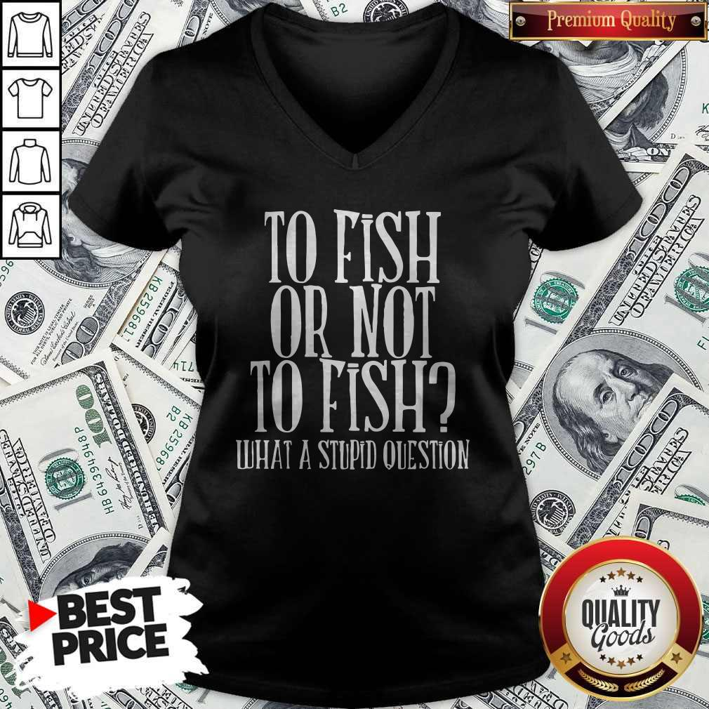 To Fish Or Not To Fish What A Stupid Question V-neck
