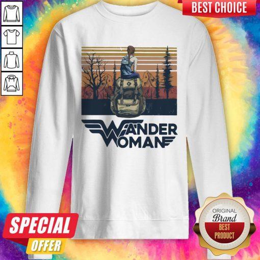 Top Wonder Woman Vintage Sweatshirt