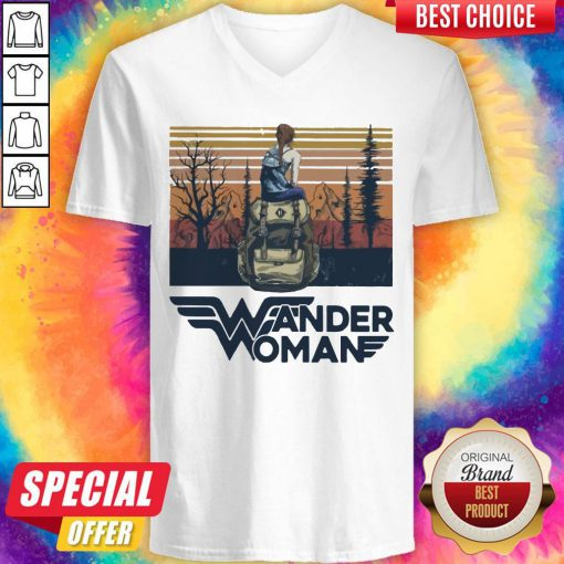 Top Wonder Woman Vintage V-neck