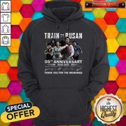Train To Busan 05th Anniversary 2016 2021 Thank You For The Memories Signatures Hoodie