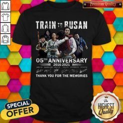 Train To Busan 05th Anniversary 2016 2021 Thank You For The Memories Signatures Shirt