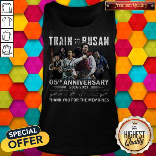 Train To Busan 05th Anniversary 2016 2021 Thank You For The Memories Signatures Tank Top