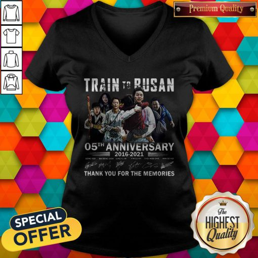 Train To Busan 05th Anniversary 2016 2021 Thank You For The Memories Signatures V-neck