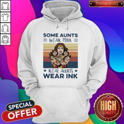Wonder Woman Some Aunts Wear Pink Real Aunts Wear Ink Vintage Hoodie