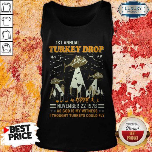 1st Annual Turkey Drop November 22 1978 Tank Top