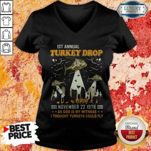 1st Annual Turkey Drop November 22 1978 V-neck