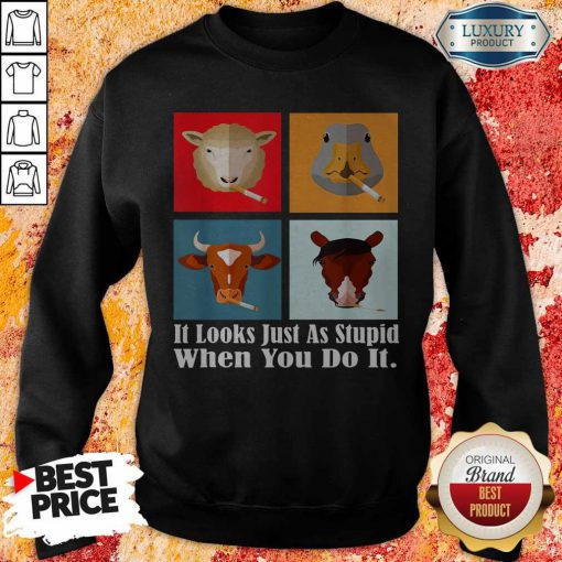 Animals with Cigars It Looks Just As Stupid When You Do It T-Sweatshirt