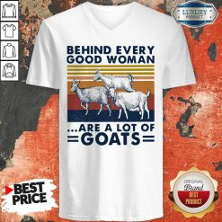 Behind Every Good Woman Are A Lot Of Goats Vintage V-neck