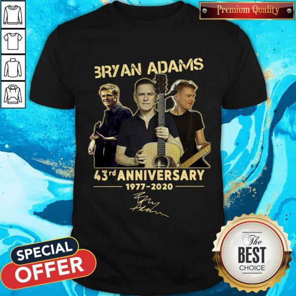 Bryan Adams 43rd Anniversary 1977 2020 Signature Shirt