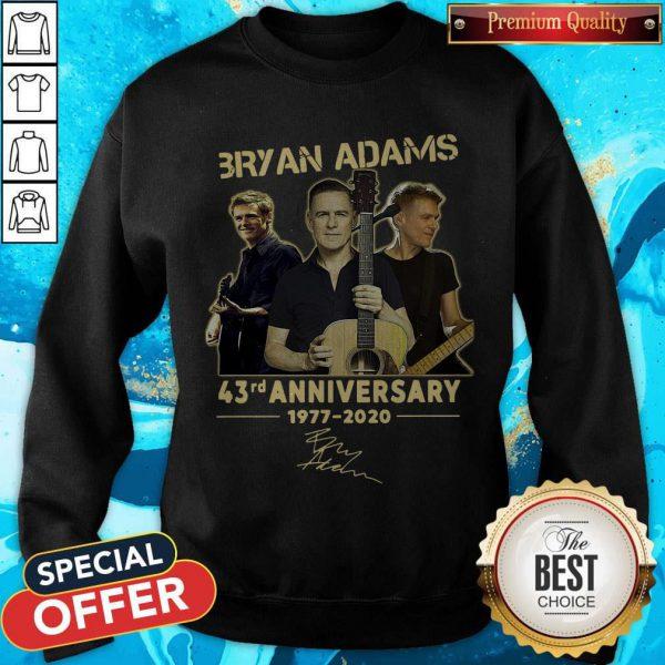 Bryan Adams 43rd Anniversary 1977 2020 Signature Sweatshirt