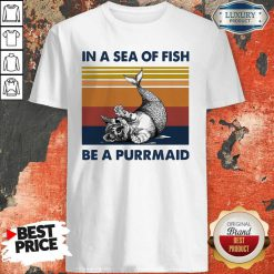 Cat In A Sea Of Fish Be A Purrmaid Vintage ShirtCat In A Sea Of Fish Be A Purrmaid Vintage Shirt