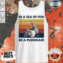 Cat In A Sea Of Fish Be A Purrmaid Vintage Tank Top