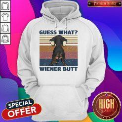 Dachshund Guess What Wiener Butt Vintage Retro Hoodie