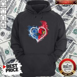 Dallas Cowboy And Louisville Cardinals Heart Fire Hoodie