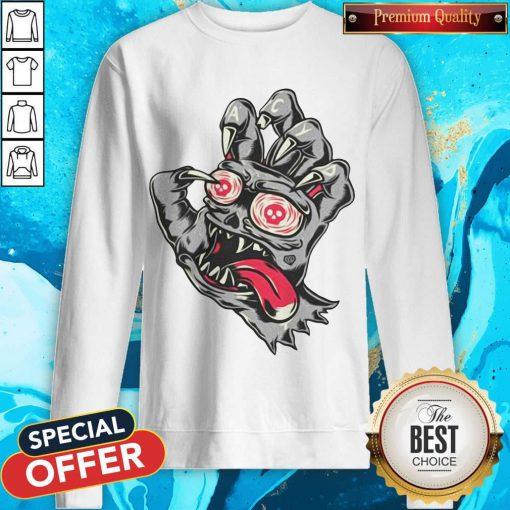 Devil Demon Hand Comics Drawing SweatshirtDevil Demon Hand Comics Drawing Sweatshirt