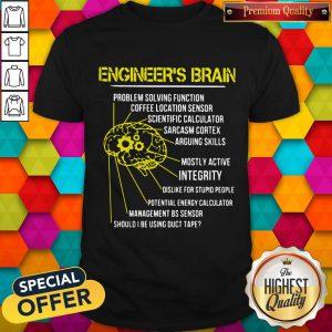 Engineer's Brain Problem Solving Function Coffee Location Sensor Shirt