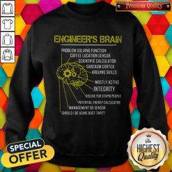 Engineer's Brain Problem Solving Function Coffee Location Sensor Sweatshirt