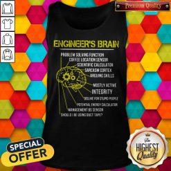 Engineer's Brain Problem Solving Function Coffee Location Sensor Tank Top